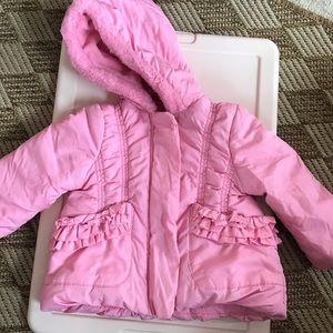 Pink Rothschild girls puffer coat